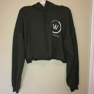 Whitney Simmons cropped hoodie